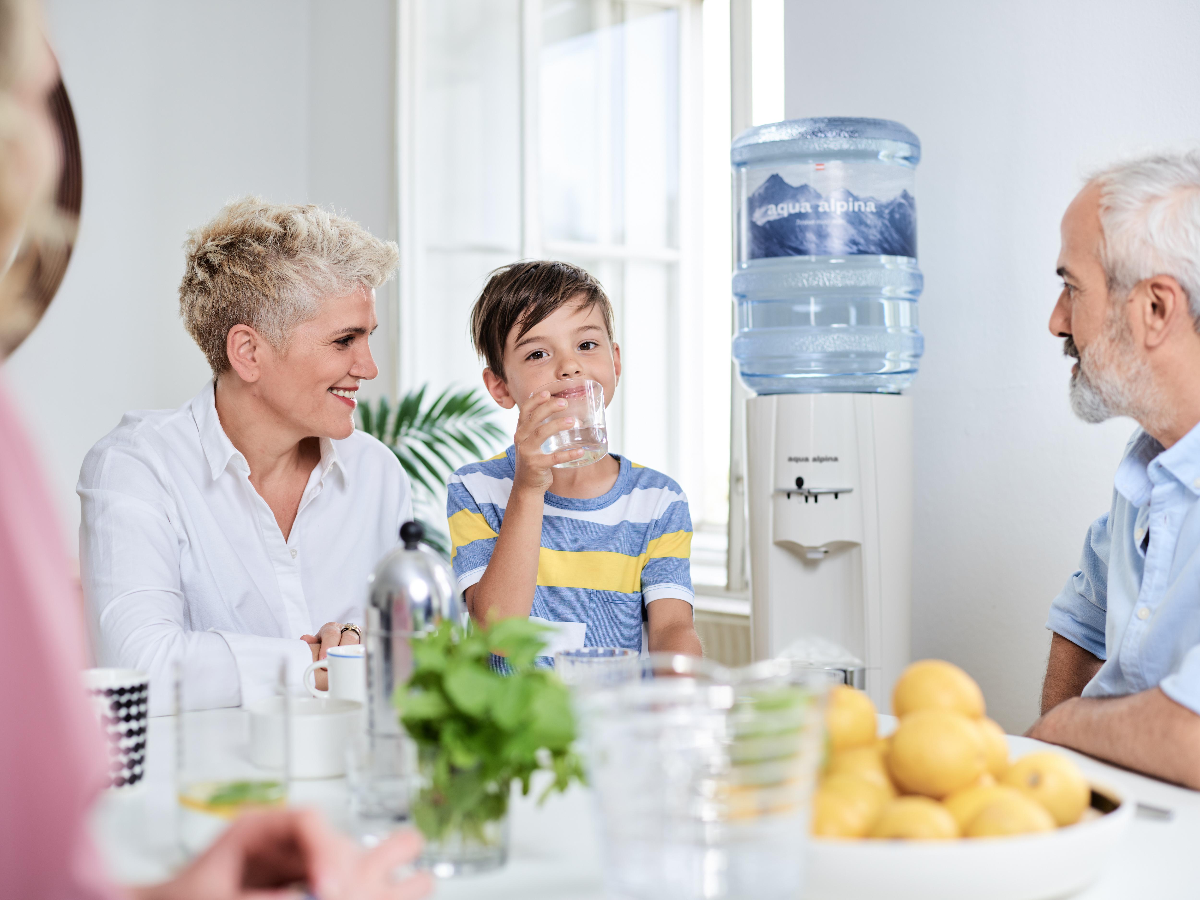 Wasserspender für die Familie