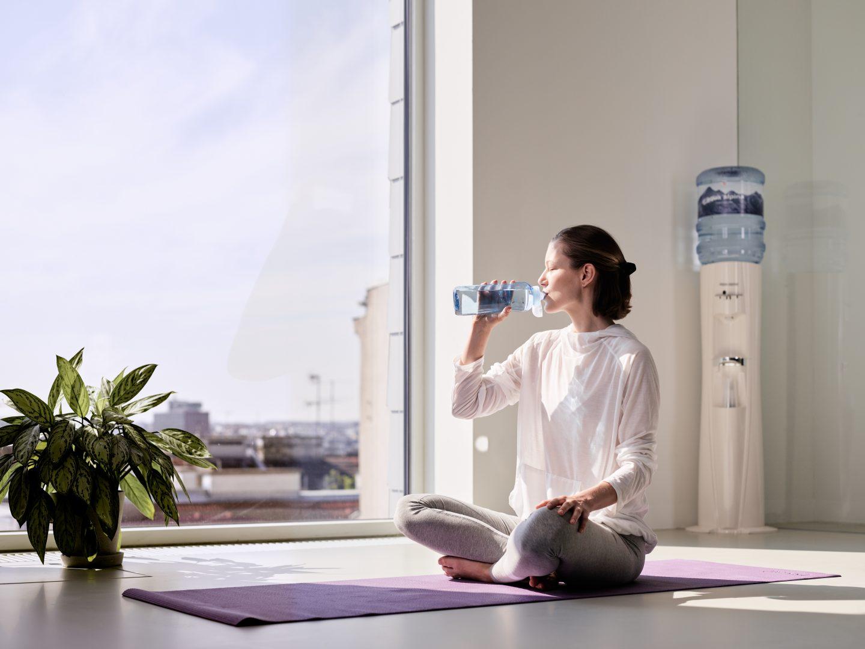 Yoga Wasser trinken