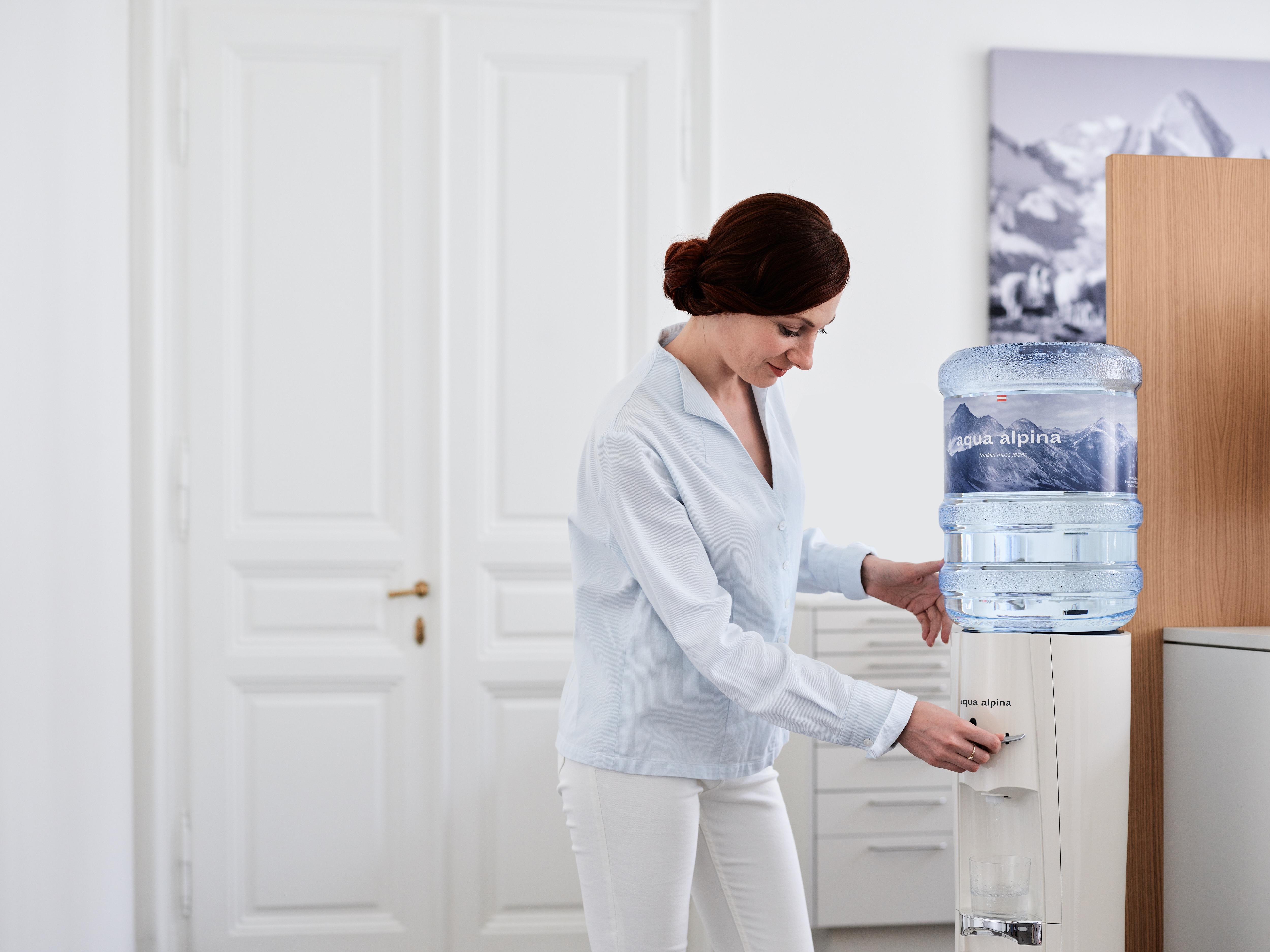 Wasserspender in Ordination