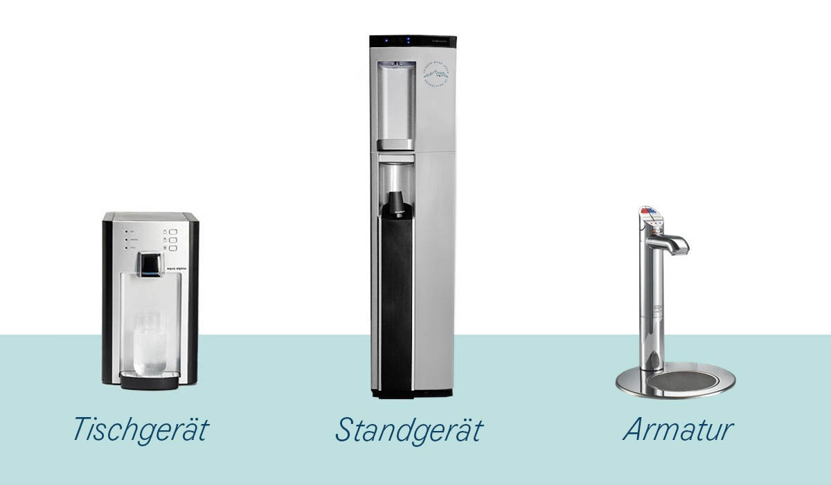 Grafik Festwasserspender - leitungsgebundene Wasserspender
