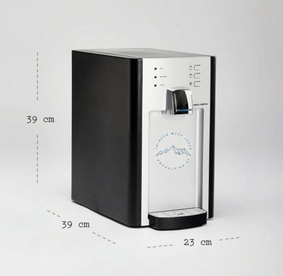 Produktbild aqua alpina Soda Mini mit Produktabmessung
