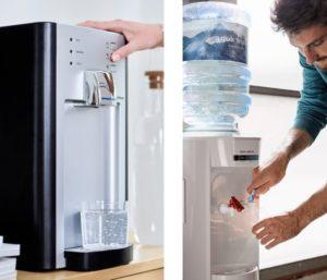 wasserspender und festwasserspender nebeneinander
