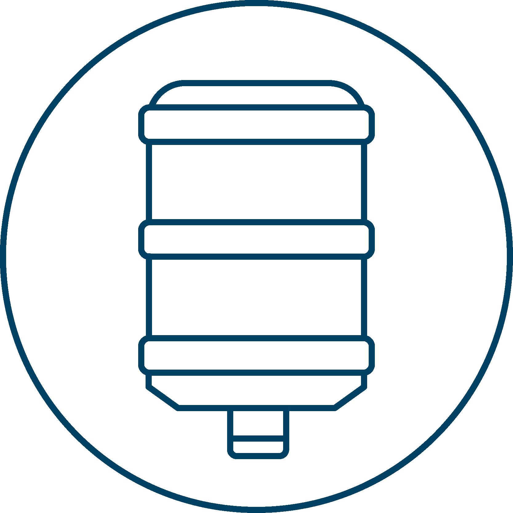 AA Icon Bottle Blau