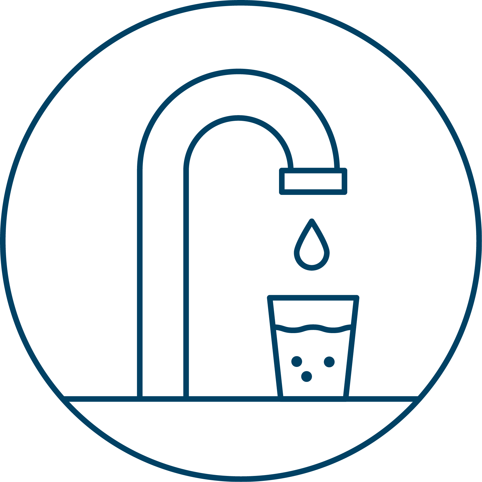 AA Icon Wasserhahn Blau