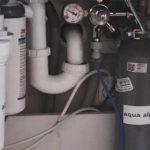 Installation Festwasserspender Unterbau Sodaflasche Filter