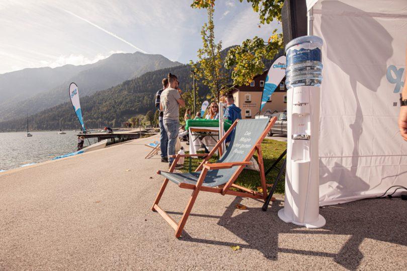 Wasserspender Auf Veranstaltung Am Strand