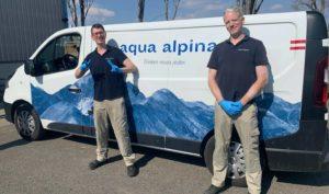 Aqua alpina Wasserspender sind für Sie Da