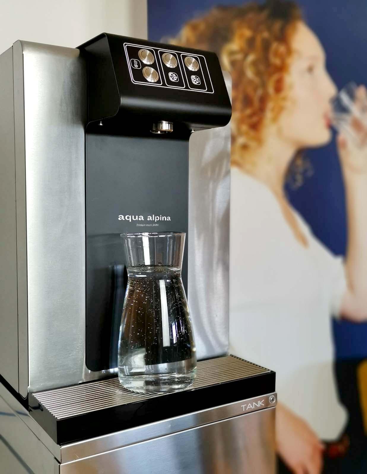 Leitungsgebundener Wasserspender Soda Premium Nahaufnahme