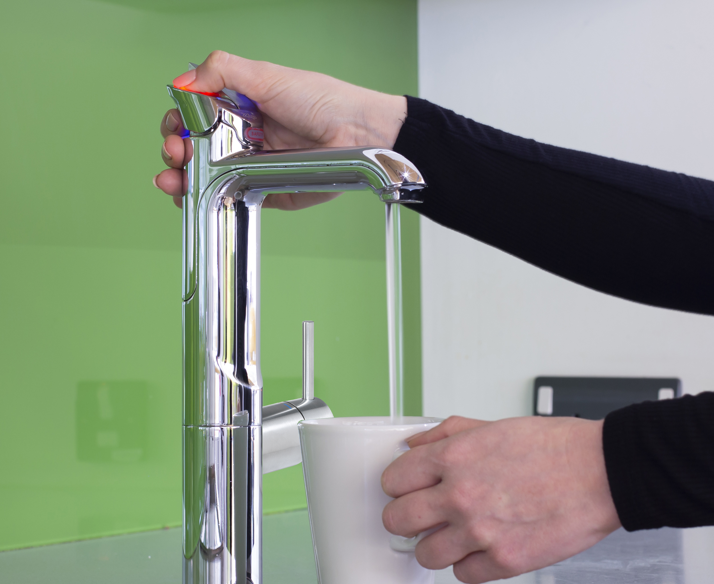 Soda Armatur Hauptarmatur Heißwasserfunktion Mit Teetasse